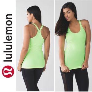 Lululemon Lime Green Ebb To Street Tank Top A011